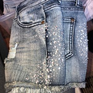 Bedazzled shorts